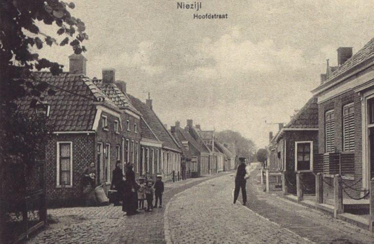 Hoofdstraat Niezijl – ca. 1915